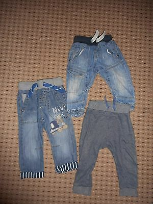 baby boys next jeans X2 and soft joggers age 9-12 months