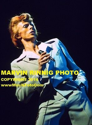 DAVID BOWIE HOLLYWOOD 1974 PHOTO-VERY RARE 8x11 pic 1974 UNIVERSAL AMP, CALIF