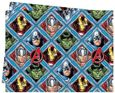 Avengers Mighty Table Cover Tablecover Cloth Birthday Party Reusable Plastic