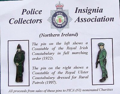 RUC Royal Ulster Constabulary Police RIC / RUC OFFICERS tie tac pin badges