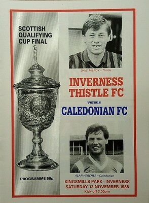 Inverness Thistle v Caledonian 12.11.88