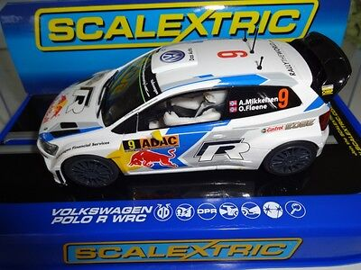 NEW Scalextric C3633 VW Polo WRC Mikkelsen World Rally Slot Car - 1/32 Scale