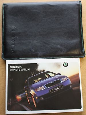 Skoda Fabia Handbook Wallet Owners Manual 1999-2004 Pack 10114