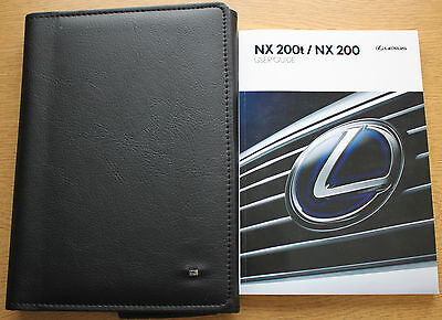 LEXUS NX200t NX200 HANDBOOK USER GUIDE WALLET 2014-2016 PACK 9629