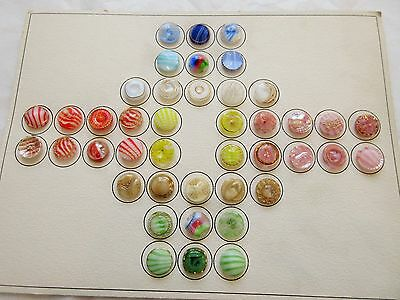 Lot Of Vintage Moonglow Glass Buttons Colorful Collector Card Striped Gold Etc