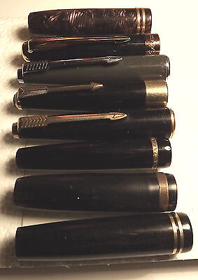 8   Pen Caps Mainly Parker, Spares Repair & Collectables