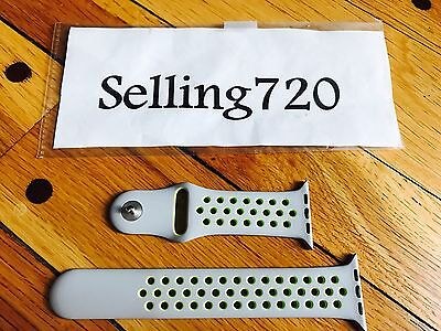 New Genuine Oem Apple Watch 2 Nike Band 42Mm Silver/ Volt With Pin And M/l Band.