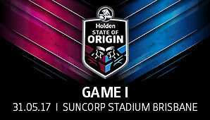 2 x State of Origin Tickets Suncorp Game 1 31st May 2017