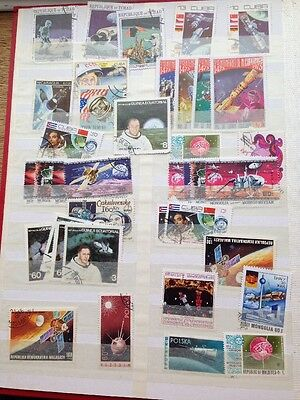 Collection Approx 30 ~ Worldwide Postage Stamps~Space Travel