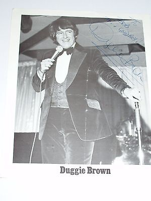 Duggie Brown Comedian Autographed Black And White Photo