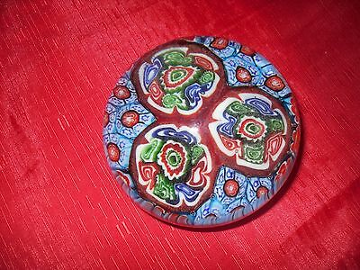 Vintage MILLEFIORI Dome Glass PAPERWEIGHT