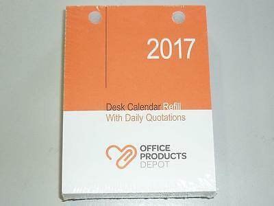 2017 Desk Calendar Refill with Daily Quotations TOP Punch top holes by OPD