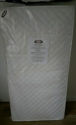 obaby cot bed spring mattress, 140x70cm. new and sealed.