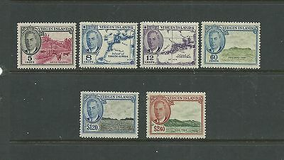 Br. Virgin Islands 1952 values to $2.40 SG140-46, mnh, Cat.£32.