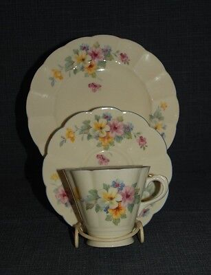 Vintage Tuscan China fluted floral Trio