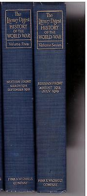 The Literary Digest History of the World War Volumes 5 and 7