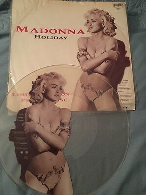 """Madonna Holiday Rare 12"""" Vinyl Picture Disc"""