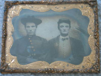 Vintage Ambrotype Picture of Civil War Soldiers