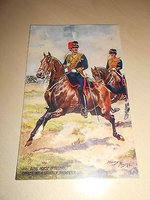 EARLY 1900s HARRY PAYNE OILETTE PC - ROYAL HORSE ARTILLERY - OFFICER & TRUMPETER
