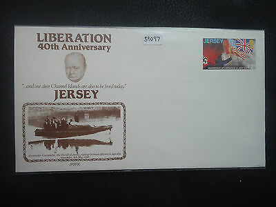 Jersey 1985 40th anniversary liberation day (pre stamped) unused Cover