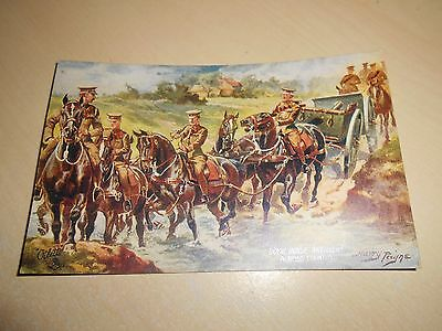 EARLY 1900s HARRY PAYNE OILETTE PC - ROYAL HORSE ARTILLERY - ACROSS COUNTRY- VGC