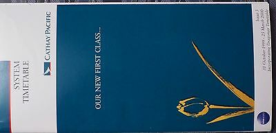 Cathay Pacific System Timetable October 1999-March 2000 Issue 3