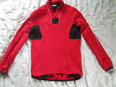 Campagnola Cycling 1/4 Zip Long Sleeve Jersey,Red,Adult Size Medium