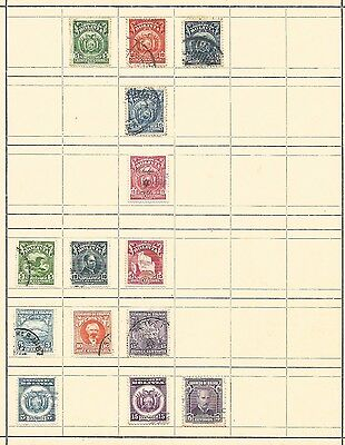 (A1) Bolivia Classic Stamps Used Unused Hinged On Page
