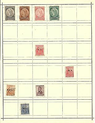 (A2) Argentina Classic Stamps Used Unused Hinged On Page