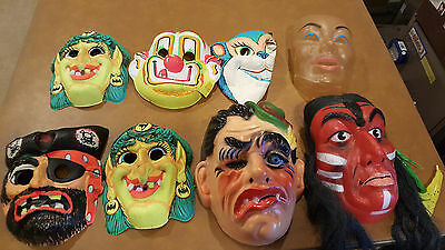 Vintage Halloween Masks Zest Clown Witches Pirate Monster