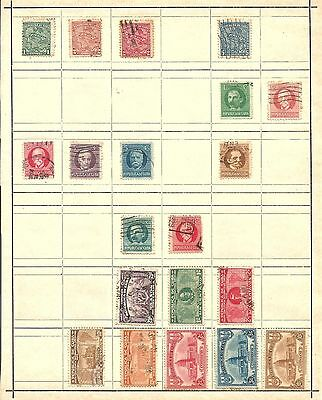 (A) Caribean Island Classic Stamps Used Unused Hinged On Page