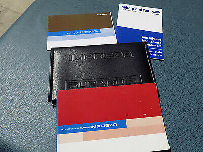 2006 SUBARU IMPREZA Owner's owners Manual with case.