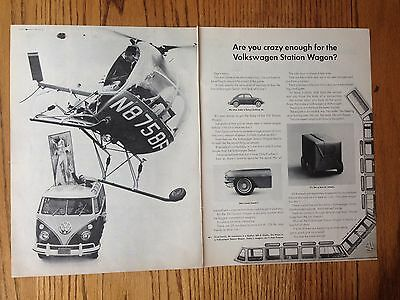 1962 Volkswagen two page ad for VW Station Wagon (BUS)