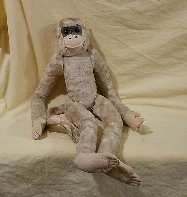Vintage Plush Monkey Toy 1930's/1940's - Moving Arms and Legs
