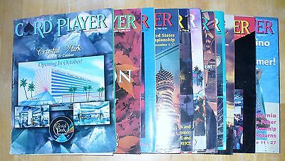 14 CARD PLAYER & POKER DIGEST MAGAZINES FROM 1996 to 2002 GOOD CONDITION