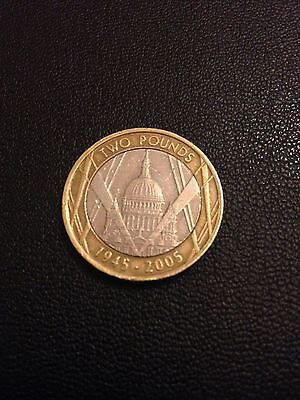 Two Pound Coin UK ST Pauls (End of WW2) 2005 £2