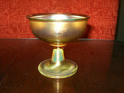 GORGEOUS Tiffany Favrile Pigtail Iridescent Goblet signed HARD TO FIND