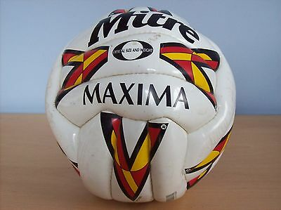 Football Boston United Signed Football  3 Autographs Mitre Maxima Official Ball