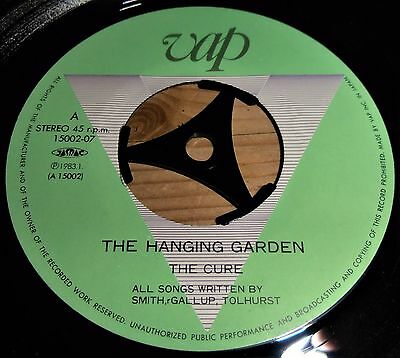 """THE CURE - The Hanging Garden - Ultra Rare 1983 7"""" Single - Japanese Import"""