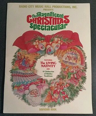 Vintage 1980s Radio City Music Hall Christmas Spectacular Souvenir Booklet