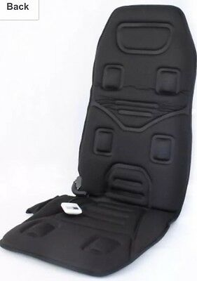 Black Heated Back Massage Chair Mat Body Vibration Relax Car Seat Ultimate Speed