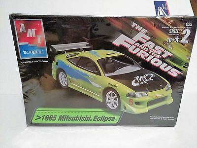 AMT Ertl The Fast and Furious 1995 MITSUBISHI ECLIPSE Model Kit New in  Box