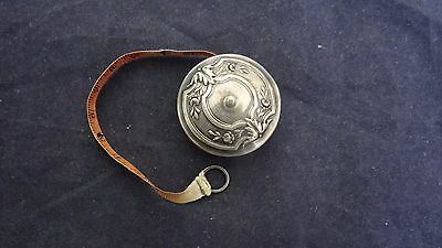 Antique 19th Century 800 Silver Repousse Tape Measure  Germany