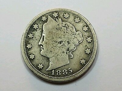 1885 liberty v nickel vg/f extremely rare