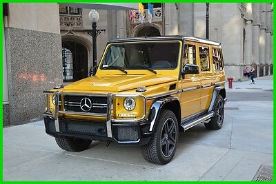 2016 Mercedes-Benz Other AMG® G63 2016 AMG G63 Used Turbo 5.5L V8 32V Automatic 4MATIC SUV Moonroof Premium