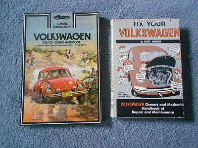 VINTAGE VW VOLKSWAGEN BEETLE REPAIR SERVICE MANUALS BOOKS LOT of 2 ORIGINAL