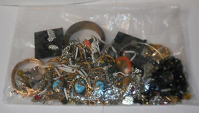 JEWELRY, SCRAP JEWELRY, 23oz/652g BAG, BEADS/PARTS/REPAIR & MORE, SOME MARKED!