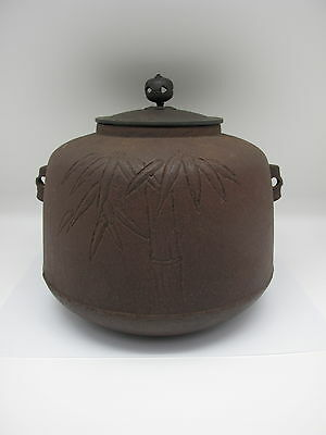Japanese Buddhist Vintage#CHAGAMA Iron Kettle For Tea Ceremony#9658