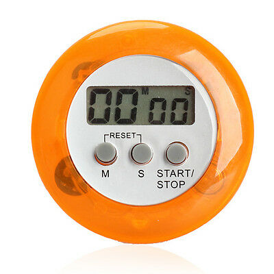 Mini Round LCD Digital Cooking Kitchen Countdown Timer Alarm Clock New Magnetic