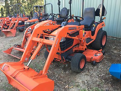 Kubota 24 HP 4x4 Front End Loader Bucket Mower Deck Tractor Delivery 300k Blade